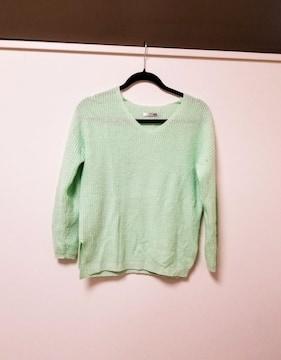 philter◆パステルカラーグリーンニット◆セーター