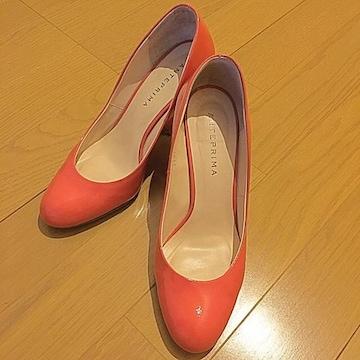 アンテプリマ  エナメルパンプス 靴 コーラルピンク  36/23cm