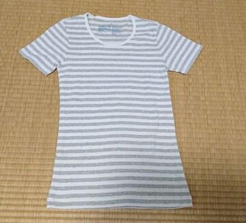 サイズS◎ライトグレー×白◎ボーダーTシャツ◎美品◎