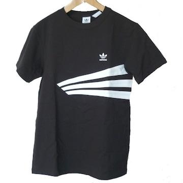 新品OT★アディダスオリジナルス黒胸ロゴTシャツ