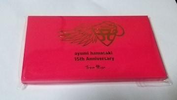 ★あゆ★ノベルティ☆15th Anniversary☆ツアーロゴ缶バッジ(8個入)Bコース