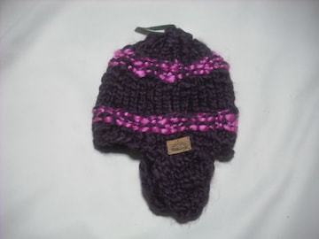 wb329 女 BILLABONG ビラボン 耳当て付き ニット帽