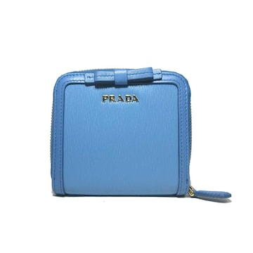 PRADA 1ML522-2B32-F0P9S リボン 両開き財布 レディース