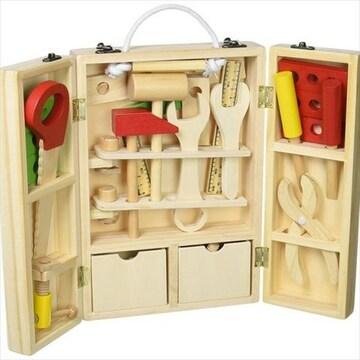 収納できる 木製ツールボックス
