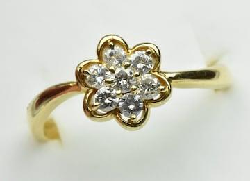 K18 ゴールド 0.30ct ダイヤモンドリング 11.5号 指輪