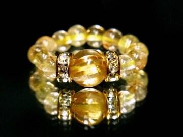 ◇パワーストーンリング◇金運を呼び込むルチルクォーツの指輪