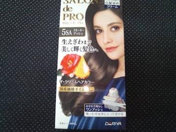送料無料☆ サロンドプロ ザ・クリームヘアカラー 白髪用 5SA