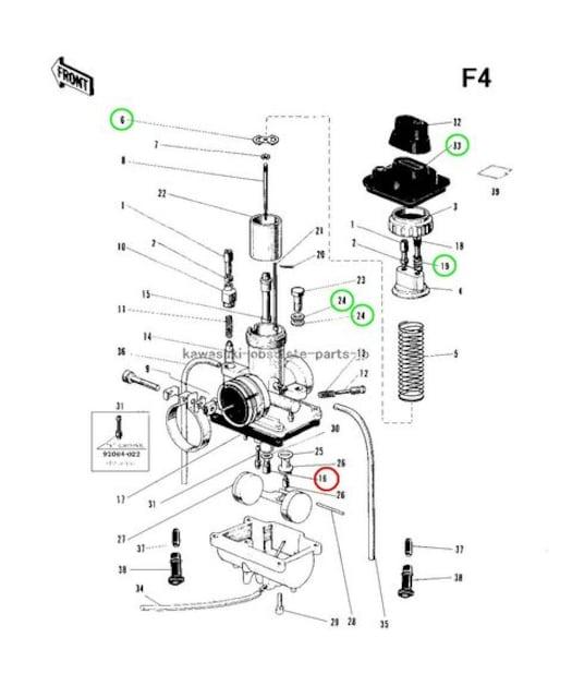 カワサキ A1 A1SS F4 G1 C1 メインジェット 150番 STD 1個 < 自動車/バイク