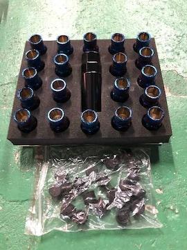 チタン風スチ-ルナット20本M12×1.5貫通ロングナットキャップ付ダイハツ,トヨタ送料無料