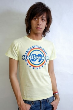 89hollywood FREESTYLE Tシャツ/黄S SANFORD