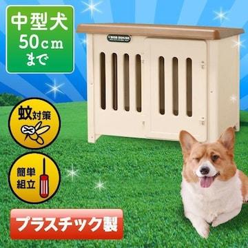 犬小屋 中型犬 大型犬 プラ プラスチック製 950-k/wa