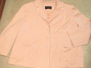 長袖ジャケット*レディース(ピンク系ベージュ)高級婦人服
