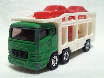 絶版トミカ��14 三菱スーパーグレートカーキャリアカー