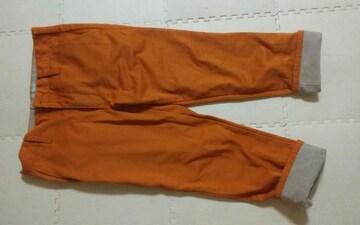 Louxs オレンジ デニム生地 Mサイズ ウエスト74〜84
