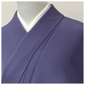 特選 伊勢丹謹製 色無地 花井幸子作 正絹 袷 三つ紋(紫)裄70