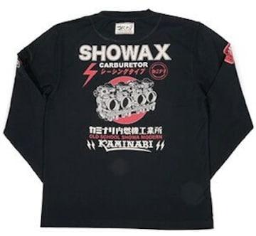 カミナリ雷/showax/ロンT/黒/kmlt-126/エフ商会/テッドマン