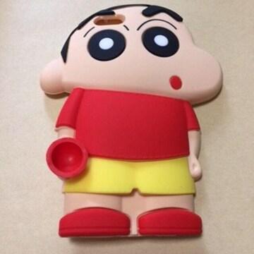 新品 iPhone6 6plus クレヨンしんちゃん シリコン カバー