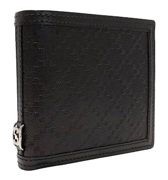 新品同様正規グッチ財布ディアマンテ二つ折り型押しレザー