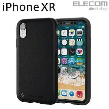 iPhoneXR ケース レザー調 ブラック PM-A18CTSTBK エレコム