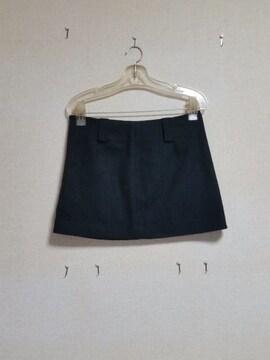 ☆フエルト素材☆ブラックミニスカート☆Mサイズ☆