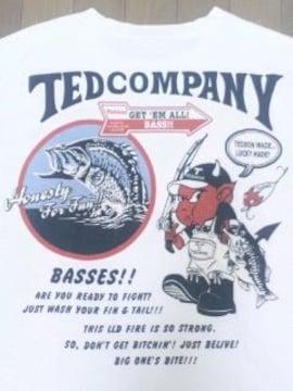 ★USED[テッドマン]アングラー・Teddon半袖Tシャツ スカジャン好きにも