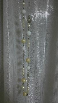 レア 美品 MARY  QUANT ネックレス お花 可愛い  ◎ ホワイト マリークワント