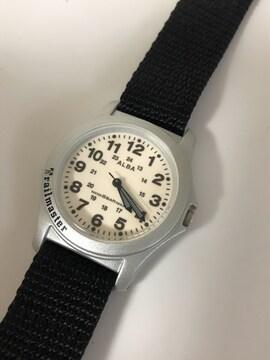 T186 セイコー ALBA アルバ ミリタリーウォッチ クォーツ 腕時計