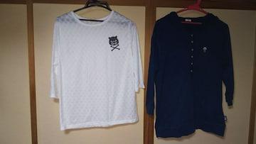 ドラッグストアーズ 7部袖シャツ2枚セット
