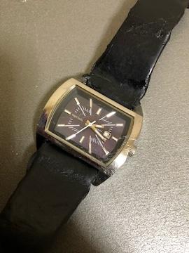 1スタ 稼働品☆ ディーゼル スクエアフェイス 腕時計