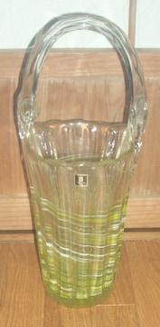 日本製マルイグラスガラス花瓶手提げ付