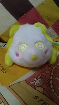 AAA・え〜パンダ・くったりパスケースぬいぐるみ・黄色 日高