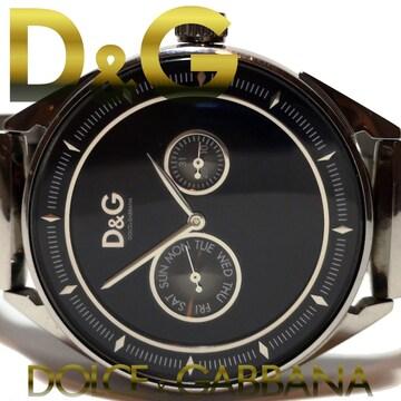 美品 1スタ★ドルガバ【D&G】2カレンダー 大型メンズ腕時計