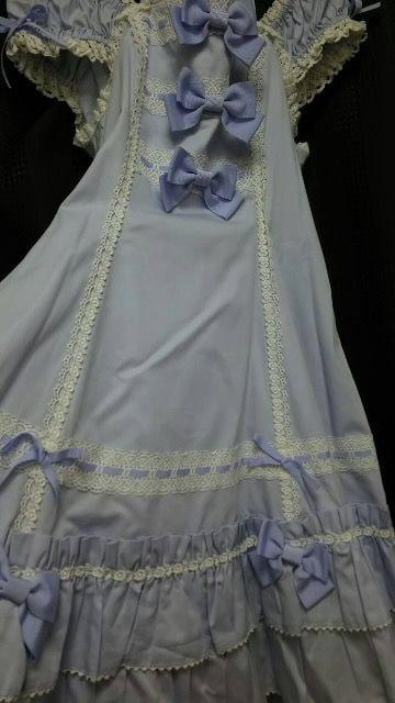 BABY☆ラベンダー☆3つリボンジャンパースカート < ブランドの