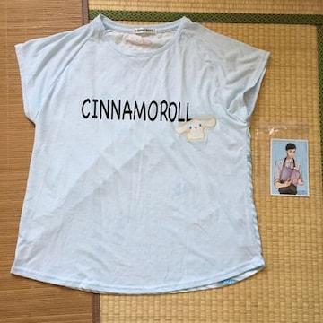 サンリオ・シナモロール・前後プリント切替Tシャツ大きいサイズ
