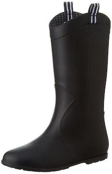 レインシューズ レインブーツ 長靴 雨靴 ブラック