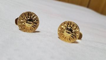 正規美 レア ジバンシィ クラシック サンモチーフカフス シャイニーゴールド グラマラスフレアボタン