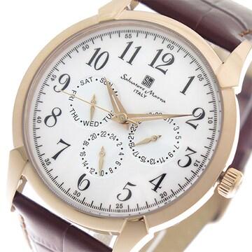 サルバトーレ マーラ クオーツ メンズ 腕時計 SM18107-PGWH