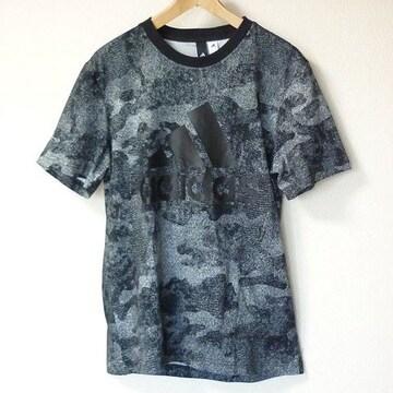 新品◆送料無料◆adidas 黒ESSENTIAL COMO Tシャツ(О)