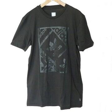 新品◆送料無料◆adidas originals黒スタンプロゴTシャツ(О)
