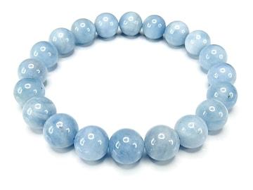 キャンディブルーアクアマリン10mmブレスレット天然石数珠