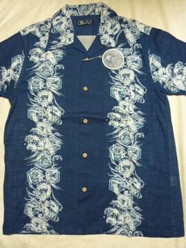 新品!和柄半袖シャツ・L アロハシャツハワイアンシャツ