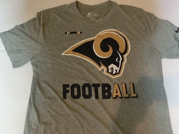 ナイキ【DRI FIT】NFL【Los Angeles Rams】ロゴT US L