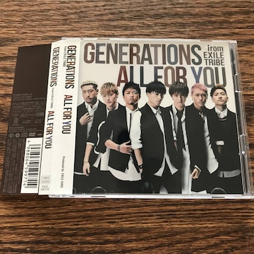 【GENERATIONS from EXILE TRIBE】ALL FOR YOU