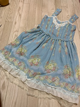 B687/axes femme/ブルー/花柄/キャミワンピ/
