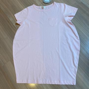 新品タグ付き140半袖ワンピース 変形タイプ ピンク