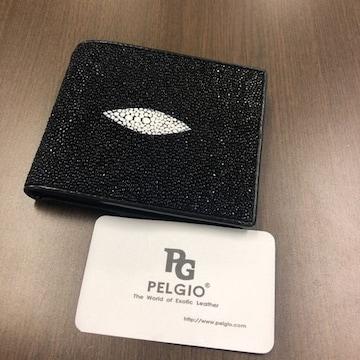 PELGIO シンプルな高級スティンググレイ財布