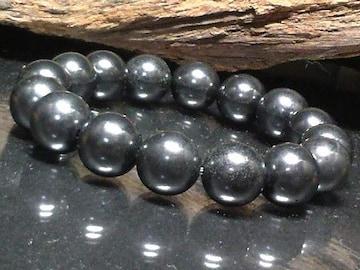 稀少天然石§シュンガイト12ミリ数珠