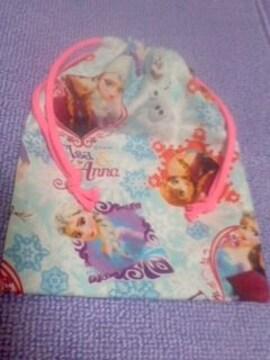 アナと雪の女王コップ袋ブルー