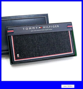 新品 即買■トミー ヒルフィガー 長財布 31TL190005-001