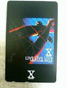 新品未使用 X JAPAN テレカ YOSHIKI hide Live Live Live
